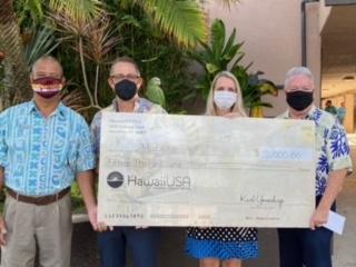 HawaiiUSA FCU Foundation made a donation $15,000 grant